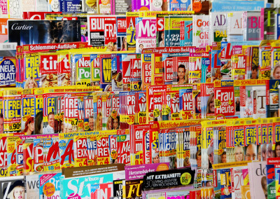 Zeitschriften in Karin's Presseecke